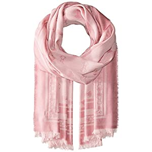 Ted Baker London Junior's Bow Jacquard Long Scarf, Light Pink, One Size
