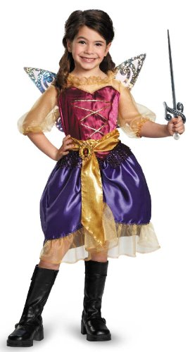 Disney's The Pirate Fairy Pirate Zarina Classic Girls Costume, Medium/7-8