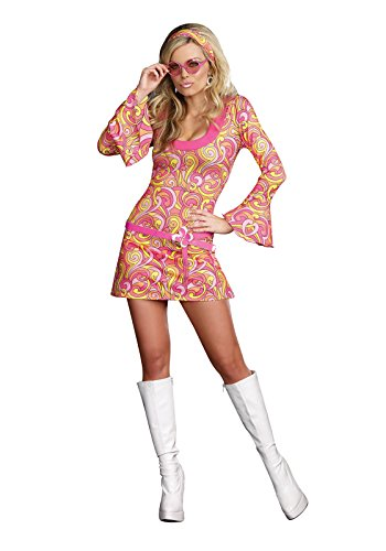 Dreamgirl Women's Go Go Gorgeous Costume, Multi, Small ()