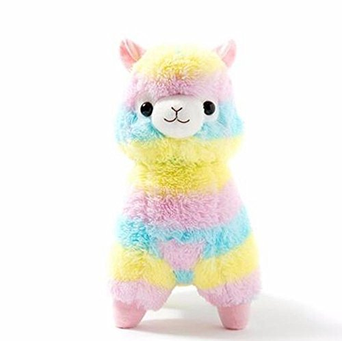 (BestKept toys Stuffed Rainbow Alpacasso - Plush Animal That's Suitable For Babies and Children - Perfect Birthday Gifts - Toy Doll for Baby, Kids and Toddlers - 5