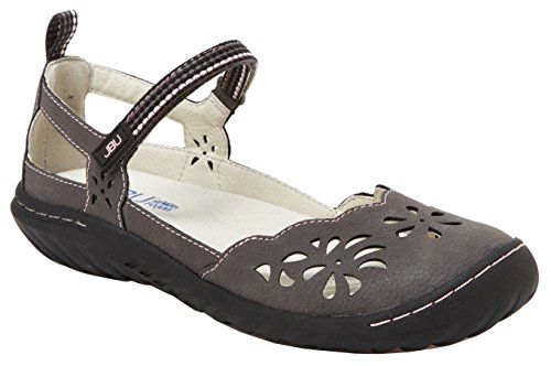 JBU by Jambu Women's Deep Sea-Encore Mary Jane Flat (8 B(M) US, Charcoal)