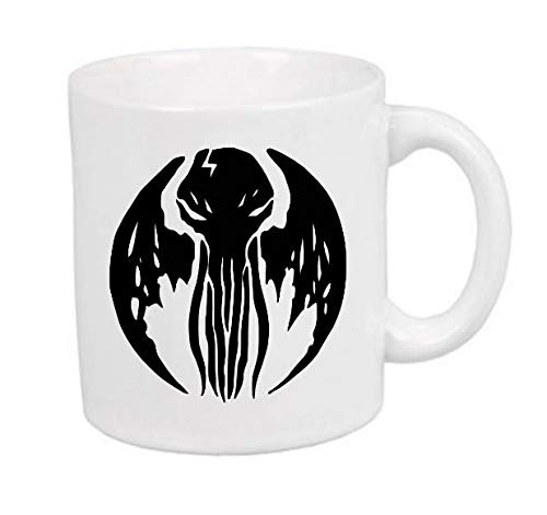 Cthulhu HP Lovecraft Elder Sign Horror Mug Coffee Cup Gift Halloween Home Decor Kitchen Bar Gift for Her Him Merch Massacre