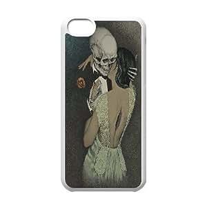 Skeleton Love Women iPhone 5C Case White