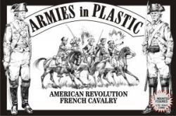 (American Revolution French Cavalry (5 Mounted) 1/32 Armies in Plastic)