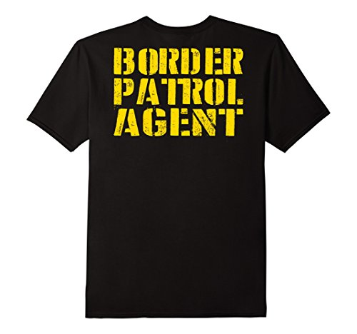 Students For Simple College Costumes (Mens Border Patrol Shirt Lazy Halloween Costume (Design On Back) Large)