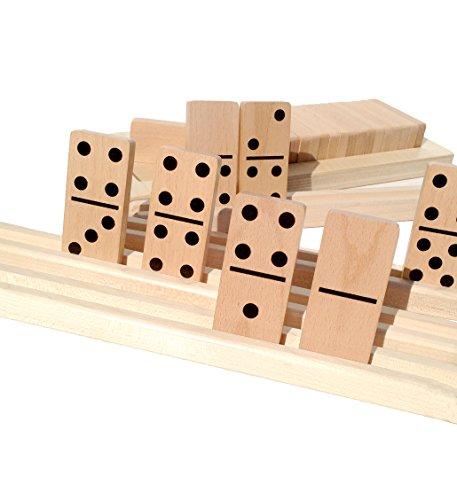 4 solid wood domino racks - 9