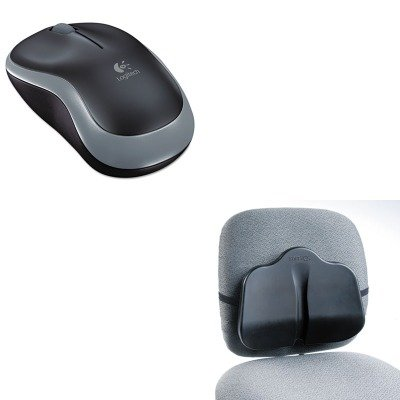 KITLOG910002225SAF7151BL - Value Kit - Safco Softspot Low Profile Backrest (SAF7151BL) and LOGITECH, INC. M185 Wireless Mouse (LOG910002225)
