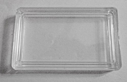 ((4 Count, One Troy Ounce Capsules) Buffalo Bar Capsules, 1toz Ingot Plastic Case, Protect Your Metal Collection, For Fractional Bars)