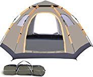 Wnnideo Instant Tents for Camping, 4-5 Person Large Portable Pop up Waterproof Family Tent for Camping Travel