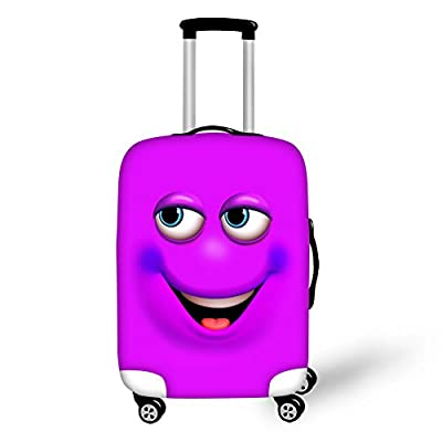 HUGS IDEA Emoji Smile Face Protective Covers for 18-30 Inch Suitcase