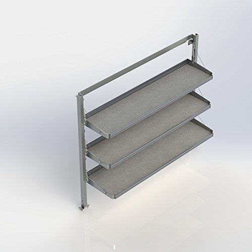 Ranger Design.Fold-Away shelving unit with 3 levels, aluminum, 21