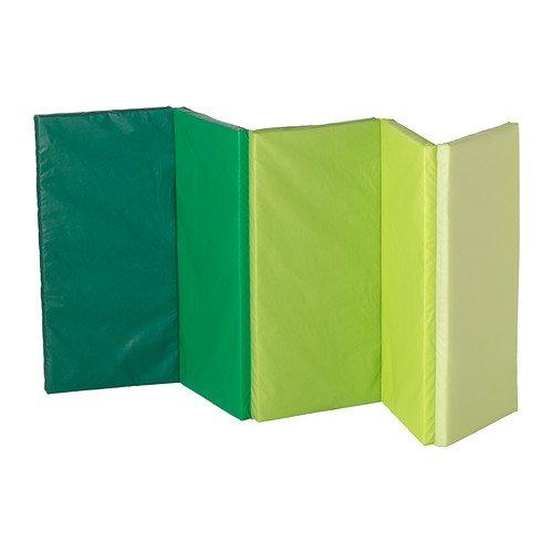 Children's Foam Folding Gym Mat, Green, Plufsig by IKEA