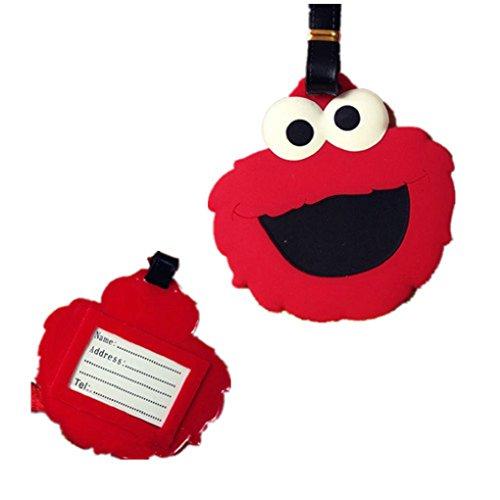 Elmo Inspired Luggage Tag-