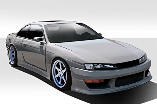 1997-1998 Nissan 240SX Duraflex V-Speed Wide Body Kit - 8 Piece - Includes V-Speed Wide Body Front Bumper Cover (109513) V-Speed Wide Body Side Skirt Rocker Panels (109514) V-Speed Wide Body Rear Bumper Cover (109515) V-Speed Wide Body Front Fenders (109516) V-Speed Wide Body Rear Fenders (109517)