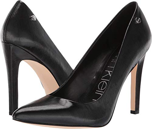 Calvin Klein Women's Brady Black Liquid Patent Smooth 9.5 M US ()