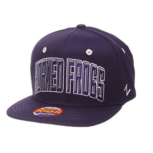 NCAA TCU Horned Frogs Children Boys Youth TC Villain Snapback Hat, Youth Adjustable, Team - Snapback Horned