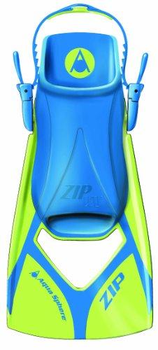 Aqua Sphere Zip VX Fitness Swim Fins, Lime/Blue, Medium