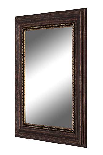 Hitchcock Butterfield Reflections Kazakhstan Beaded Copper Framed Wall Mirror, 38 x 48