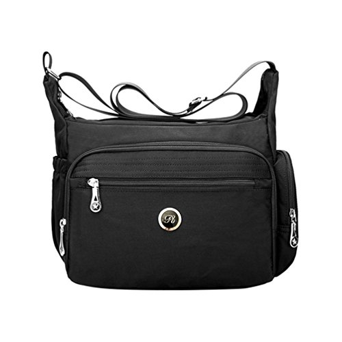 Black Pack Purses Messenger Women Handbag for Fabuxry Organize Shoulder Crossbody Bag ZqX1nxwvz