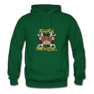 Women Style Personality Deepheather X-large Grease Monkeyz Printed Green By Hommcbr