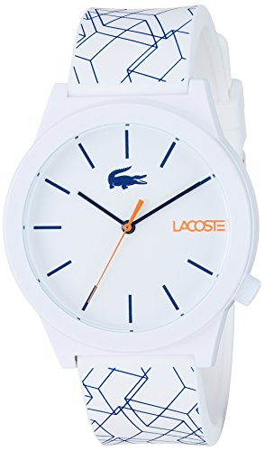 Lacoste Men's Motion Quartz Watch with Silicone Strap, Blue, 20.15 (Model: 2010956) (Watches Lacoste)