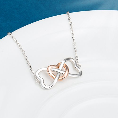 STROLLGIRL 925 Sterling Silver Unique Infinity Charm Heart Bracelet Adjustable Jewelry Gifts for Women by STROLLGIRL (Image #3)