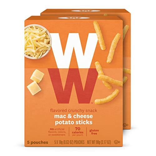 WW Mac & Cheese Potato Sticks - Gluten-free, 2 SmartPoints - 2 Boxes (10 Count Total) - Weight Watchers Reimagined
