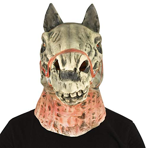 Halloween Mask, Yachee Creepy Novelty Horror Zombie Full Head Deluxe Latex Mask for Halloween Cosplay Prank Props - Ghost Foal