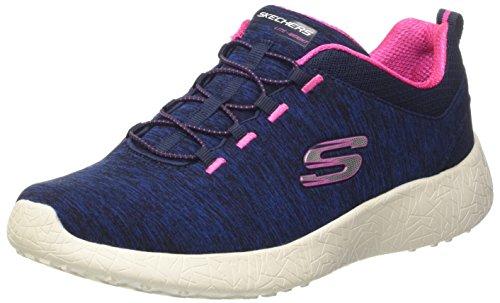 Skechers Burst-City Heat, Zapatillas para Mujer Azul (NVHP)