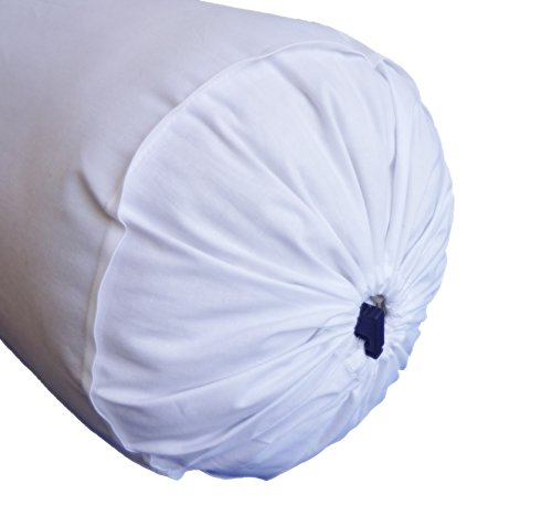 White Bolster Pillowcase - Neck Roll Round Bolster Cover for Bed Sofa Chair Couch Lounge Cotton 6