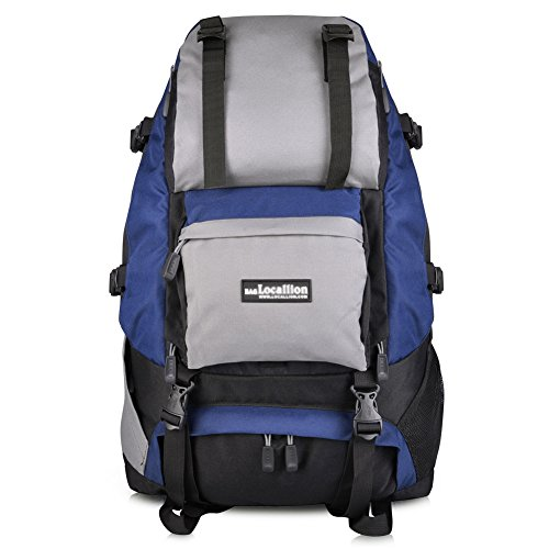 Vbiger Hiking Backpack Camping Backpack 40L Outdoor for Mountain Climbing Traveling (Dark Blue)