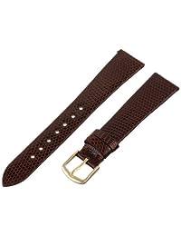 Hadley-Roma Men's MSM700RB-180 18mm Brown Genuine Lizard Leather Watch Strap