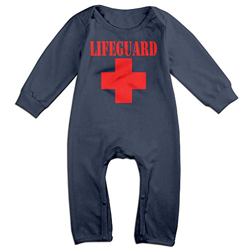 Unisex-baby Lifeguard Gear Logo Long Sleeve Jumpsuits Outfits Sleepwear