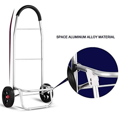 DNSJB Pull Rod Car Shopping Cart Aluminum Alloy Baggage Wagon Ultralight Trolley Portable Trailer Hiking Pull Rod Car
