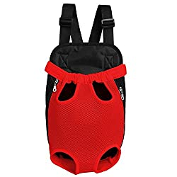 UIMNJHUKE LudyStore Legs-Out Front Pet Dog Carrier,Hands-Free Adjustable Backpack Travel Bag for Small Medium Puppy Doggie Cat Bunny Breeds Outdoor