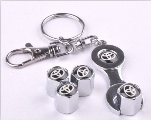 Wrench Keychain Chrome Valve Toyota