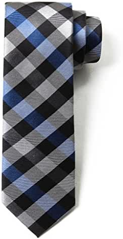 Origin Ties Fashion Gingham Plaid Men's Silk Skinny Tie