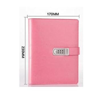 Diario, cuaderno, agenda secreta Yakri de cuero sintético con cerradura con contraseña, diario forrado con cerradura con contraseña nueva TPN093, ...