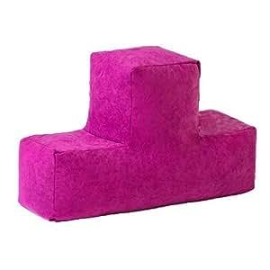 Gardenista rosa Tetris resistente al agua al aire libre cojín relleno puf en forma de T