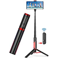 Vinsic Lightweight Aluminum All in One Extendable Phone Tripod for iPhone 11/Xs Plus Portable & Lightweight Home Travel