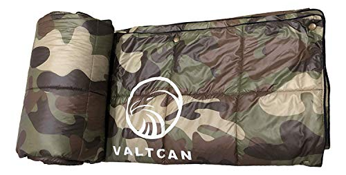 Valtcan Camo Camping Blanket Puffer 88 x 55 ()