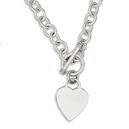 Tiffany Co Toggle Necklace - 925 Sterling Silver Heart Link Toggle Chain Necklace Pendant Charm S/love Fine Jewelry For Women Gift Set