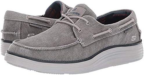 メンズスリッポン・ボートシューズ・靴 Status 2.0 - Lorano Light Grey 11.5 D - Medium [並行輸入品]