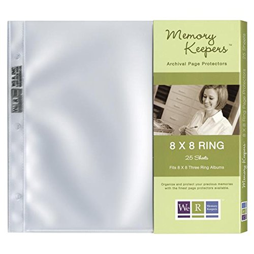 We R Memory Keepers 25-Pack Page Protector for 8 by 8-Inch Ring Album