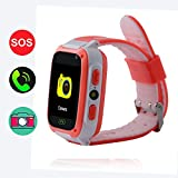 GPS Tracker for Kids,Hangang Kids Tracker Watch Game Smart Watch of Kids, Girls Watch with Game,Kids Smartwatch with Game Wrist Watch Education Toys Boys Girls Gifts-Red