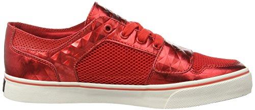 Creative Recreation Cesario Lo Xvi Herren Sneaker Red (Red Mesh/Brown Diamond)