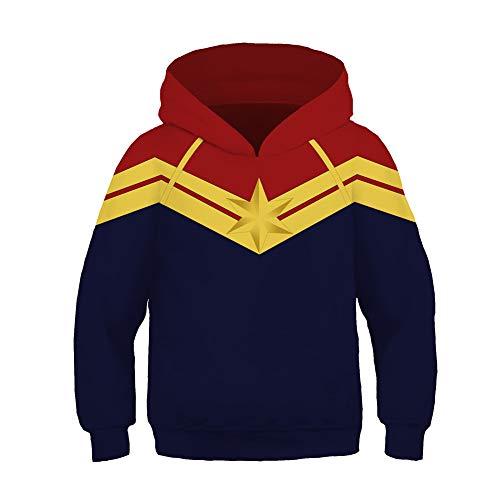 Cosplay Official Toddler Captain Pullover Kids Hoodies Jacket Sweatshirt Costume 4Y-13Y