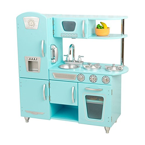 blue-vintage-kitchen-lets-kids-pretend-they-are-cooking