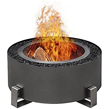Amazon Com Luxeve The Patio Fire Pit Smoke Reducing