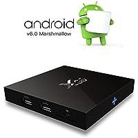 X96 TV Box,TopYart 2GB/16GB Android 6.0 Smart TV Box Amlogic S905X Quad Core Marshmallow WIFI HDMI 2.0 4K2K 1080P Set top Box